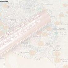 1ชิ้นS Cratchแผนที่ที่กำหนดเองทำสหรัฐปาร์คสีน้ำตาลแผนที่ST006-Brown