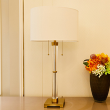 TUDA High Grade Crystal Table Lamps For Bedroom Living Room Double Lighting Luxurious LED Home Decor