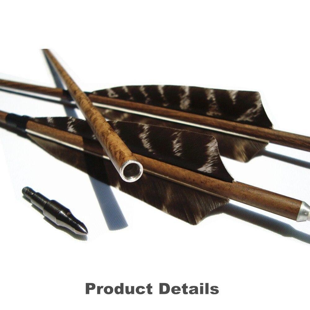 Boogschieten Houtkorrelige Carbon Pijlen 12 Pak Spine 400/500/600 Met - Jacht - Foto 5