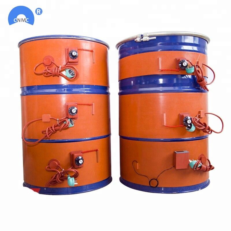 250x1740mm 2000W American Standard Customization Silicone Rubber 200L Drum Heating Belt
