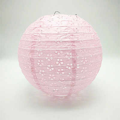 Pink Chinese Hollow Paper Lanterns 8/10/12/16Inch Wedding Lanterns Paper Lampshade Holiday Party Supplies Children DIY Lanterns