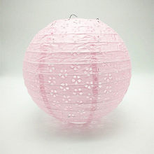 Pink Chinese Hollow Paper Lanterns 8/10/12/16Inch Wedding Lanterns Paper Lampshade Holiday Party Supplies Children DIY Lanterns(China)