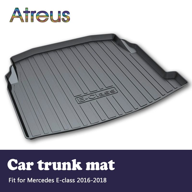 Atreus Car Rear Trunk Floor Mat Durable Carpet For Mercedes Benz E class W213 2016 2017 2018 Boot Liner Tray Anti-slip mat car trunk mat cargo liner rear boot mat custom fit for mercedes benz e class w213 gla gla200 gla220 gla45 amg glc coupe
