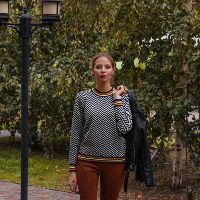 ONLYSVTER, Женский пуловер, свитер, жаккардовый трикотаж, длинный рукав, круглый ворот, мягкий толстый джемпер, евро, рождественские свитера, топ, Pull Femme