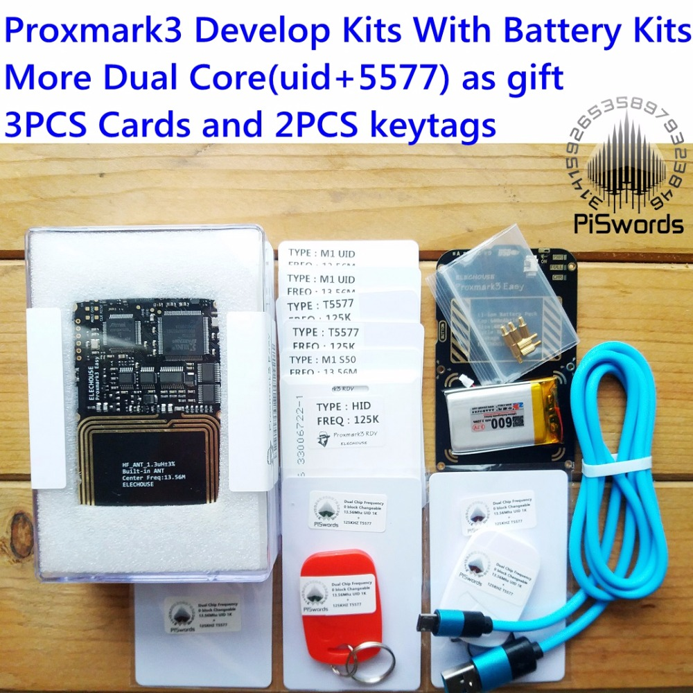 proxmark3 develop suit 3 Kits proxmark NFC RFID reader writer HF LF antenna  SDK UID T5577 changeable card copier clone crack