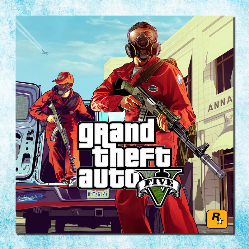 Grand Theft Auto V Game Art Silk Canvas Poster Print 13x13 32x32 inches GTA 5 Wall Pictures For Living Room (more)-5