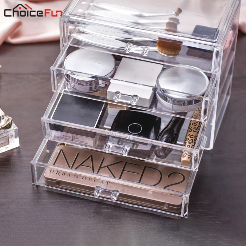 WAHL SPAß Home Desktop Eitelkeit Acryl 4 Schubladen Kosmetik Bilden Organizer Klar Kunststoff Make-Up Lagerung Box Für Schmuck