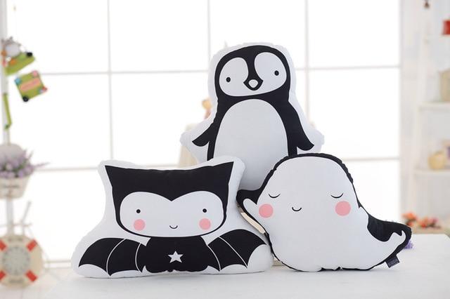 Ins pinguïn dubbelzijdig afdrukken vleermuis ghost vorm kussens gift