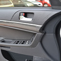 For MITSUBISHI Lancer EX Carbon Fiber 4 Door Armrest Handle Carbon Fiber Protection Car Stickers 8pcs per set