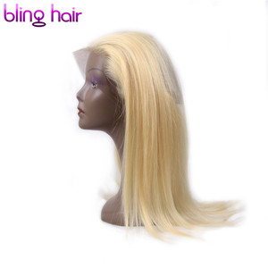 Image 2 - Bling Saç 360 Dantel Frontal Kapatma Brezilyalı Remy İnsan Saç Sarışın 613 Frontal Düz Saç Kapatma Ile Bebek Saç Ücretsiz parça