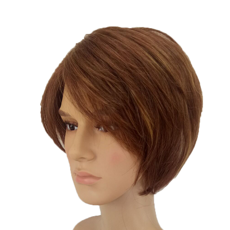Image 2 - HAIRJOY Man  Layered Synthetic Hair Wig  Short  Brown  Wigs Free Shippingwig brownwigs freewigs free shipping -