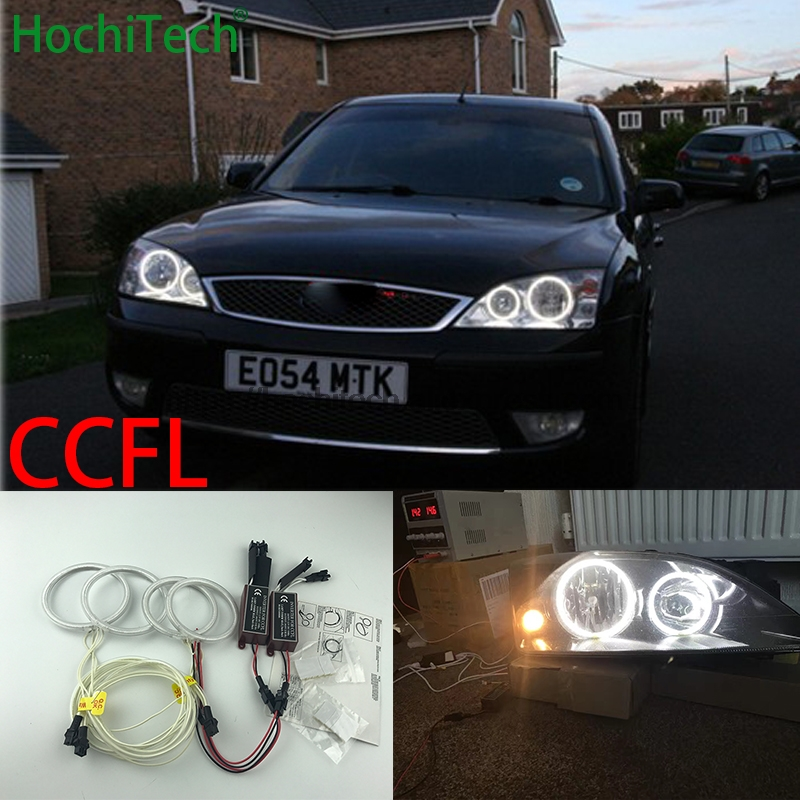 HochiTech for FORD Mondeo MK3 2001 2007 car styling WHITE 6000K CCFL Headlight Halo Angel Eyes Kit angel eyes light
