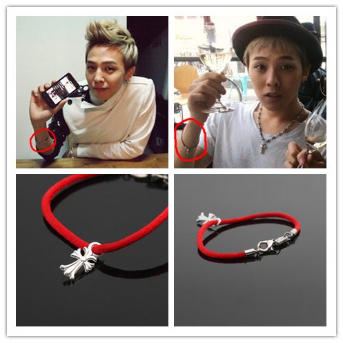 Kpop Bang Bb Gd G Dragon Lovesong Red Cross Hand Rope S Bracelet