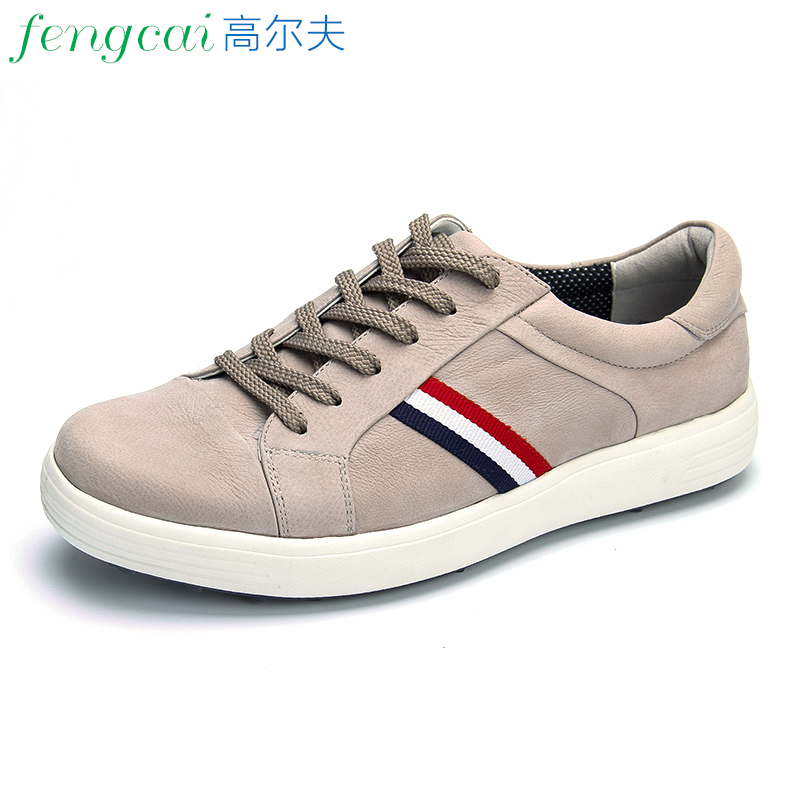 Soft Men Golf Shoes Male Sports Shoes Breathable Sneakers Wearable Shoelace Anti-slip Men Training Sneakers Striped Comfortable цена