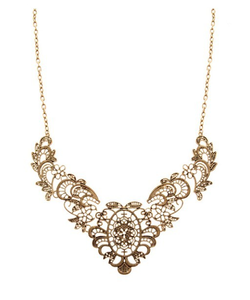 Fashion Luxurious Brazil Collar statement hollow necklace collares women vintage Jewelry Wholesale