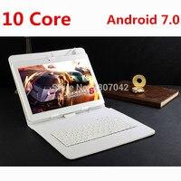 Google Android 7,0 10,1 дюймовый планшет Deca Core 4 Гб ОЗУ 128 Гб ПЗУ 4G FDD LTE 1920x1200 ips 8.0MP две sim карты планшет 10,1 ноутбук