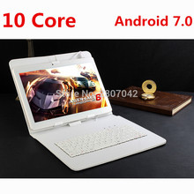 Google Android 7.0 10.1 inch tablet Deca Core 4GB RAM 128GB ROM 4G FDD LTE 1920x1200 IPS 8.0MP Dual SIM Cards Tablet 10.1 Laptop