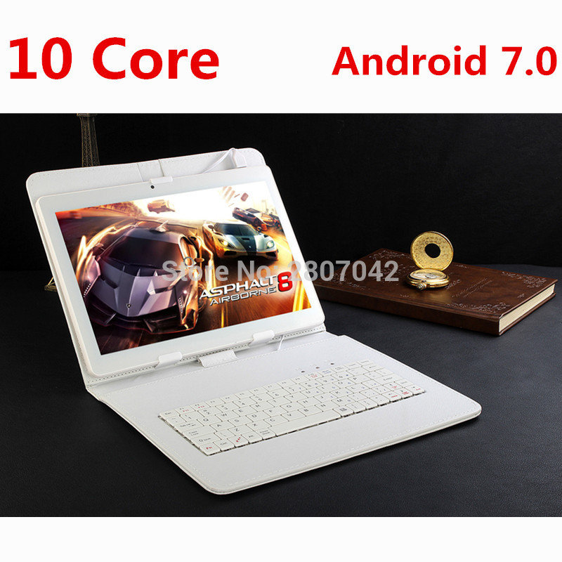 Google Android 7.0 10.1 pouce tablet Deca Core 4 GB RAM 128 GB ROM 4G FDD LTE 1920x1200 IPS 8.0MP Dual SIM Cartes Tablet 10.1 Ordinateur Portable