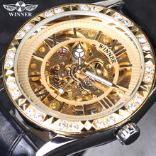 Women Watch Top Brand Luxury Winner Leather Band Women Skeleton Mechani