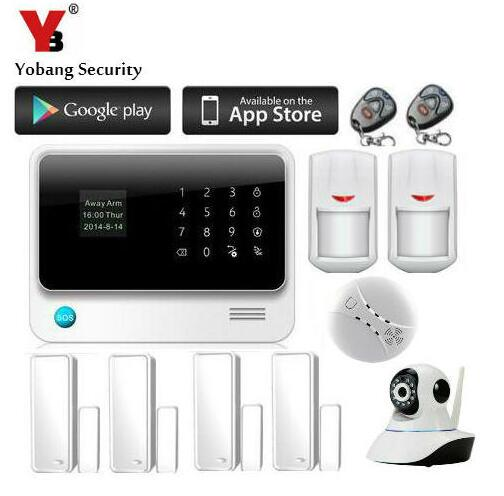 Yobang Security Wireless Security Camera Alarm System GSM Auto dial Home Office PIR GSM Alarm With IP Camera Home Surveillance