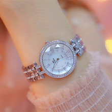Explosion models waterproof hot watches high-end full Rhinestone brand round gold silver plus female watch