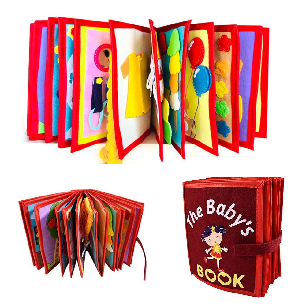Baby Cartoon Education Cloth Book Non-Woven Handmade Painting Animal Book DIY Material Package Child 3D Fairy Tale Cloth Book