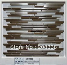 metal mosaic tiles,Stainless steel mosaic,bathroom mosaic tiles(China)