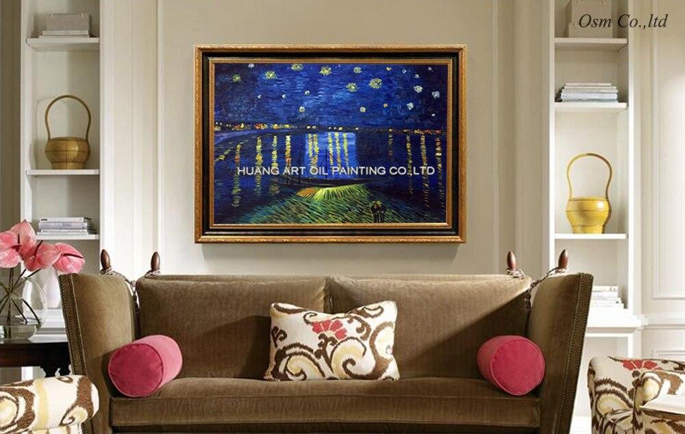 Aftësi Artist i punuar me dorë i Famshëm Vincent Van Gogh me - Dekor në shtëpi - Foto 3