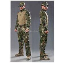 Kryptek Mandrake Лягушка Боевой Костюм полиции Лягушка формы армия школа единый набор один длинным рукавом рубашка и один тактический брюки