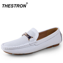Mens Business Shoes British Trendy Casual Loafers Summer Formal Luxury Men Genuine Leather Footwear