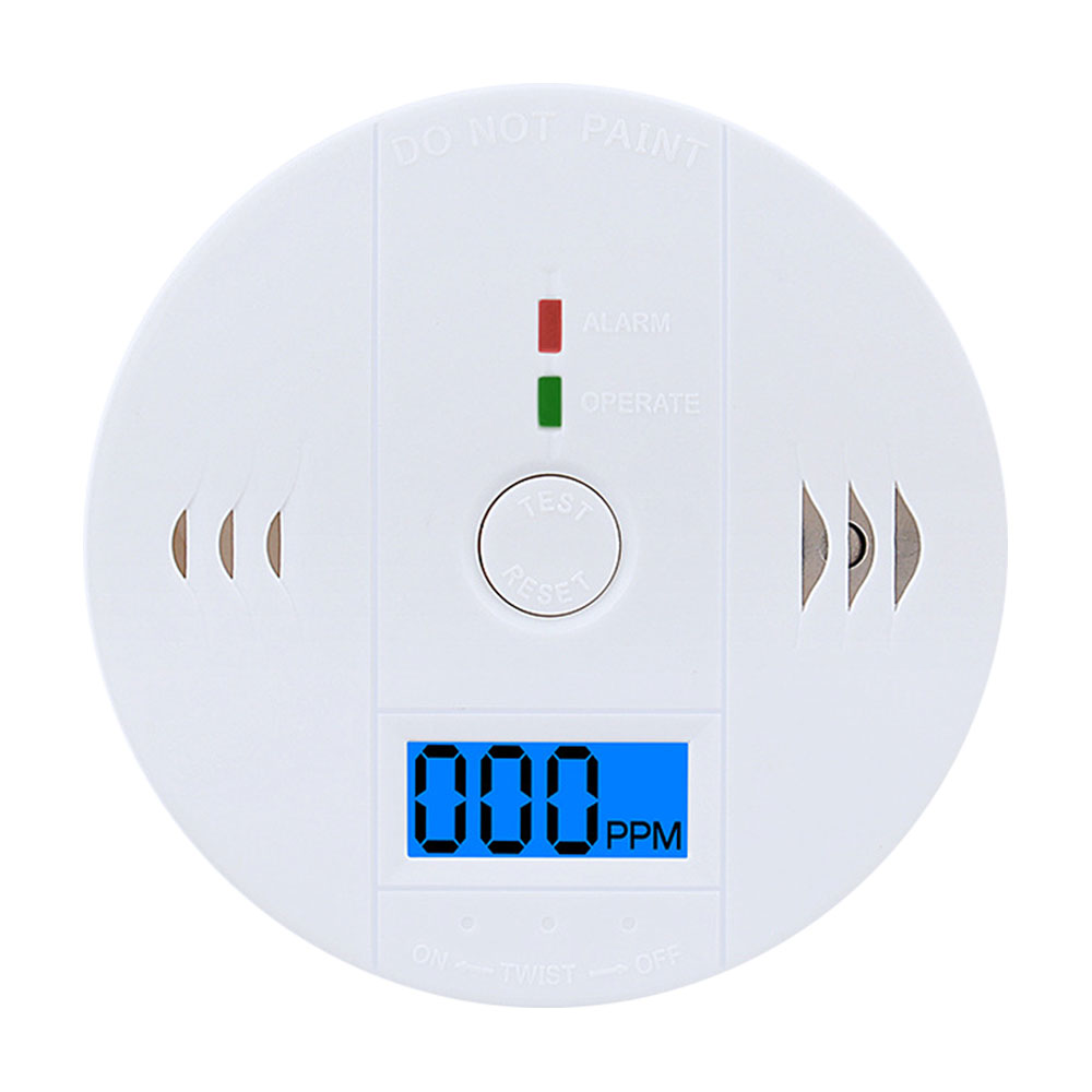 Co Gas Detector Home Security Carbon Monoxide Detector Alarm Co Sensor Lcd Photoelectric Independent 85db Warning High Sensitive Fire Protection