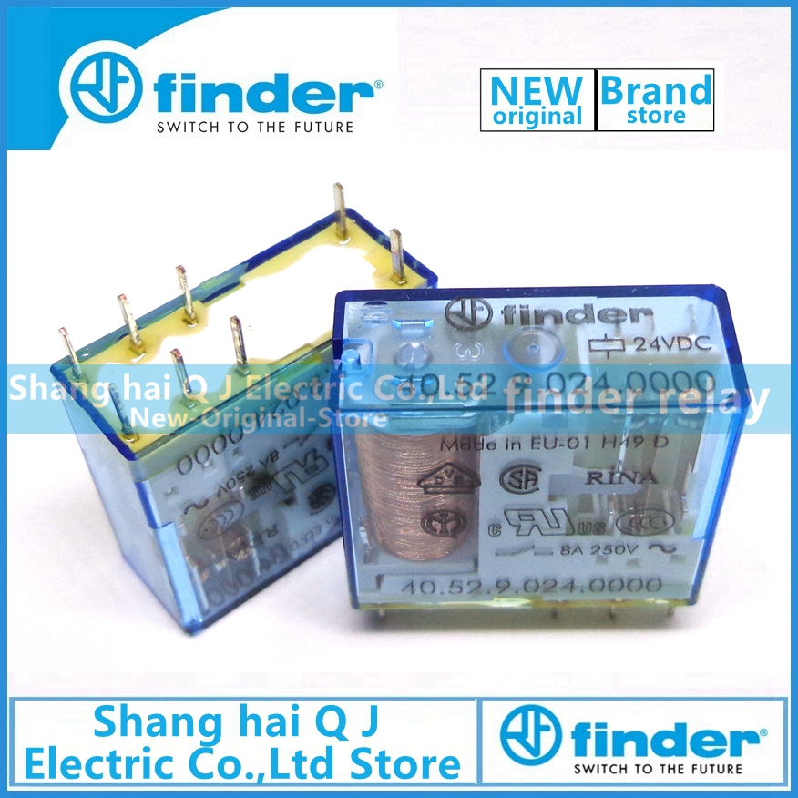 Brand new and original finder 40.52.9.024.0000 type 40.52 24VDC 8A relayBrand new and original finder 40.52.9.024.0000 type 40.52 24VDC 8A relay