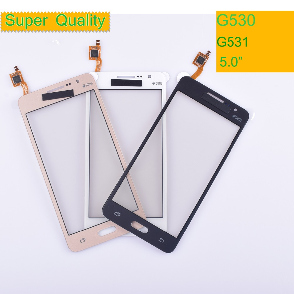 10Pcs/lot G530 G531 TouchScreen For Samsung Galaxy Grand Prime G531H G531F G530H G530F G5308 Touch Screen Digitizer Panel Sensor(China)