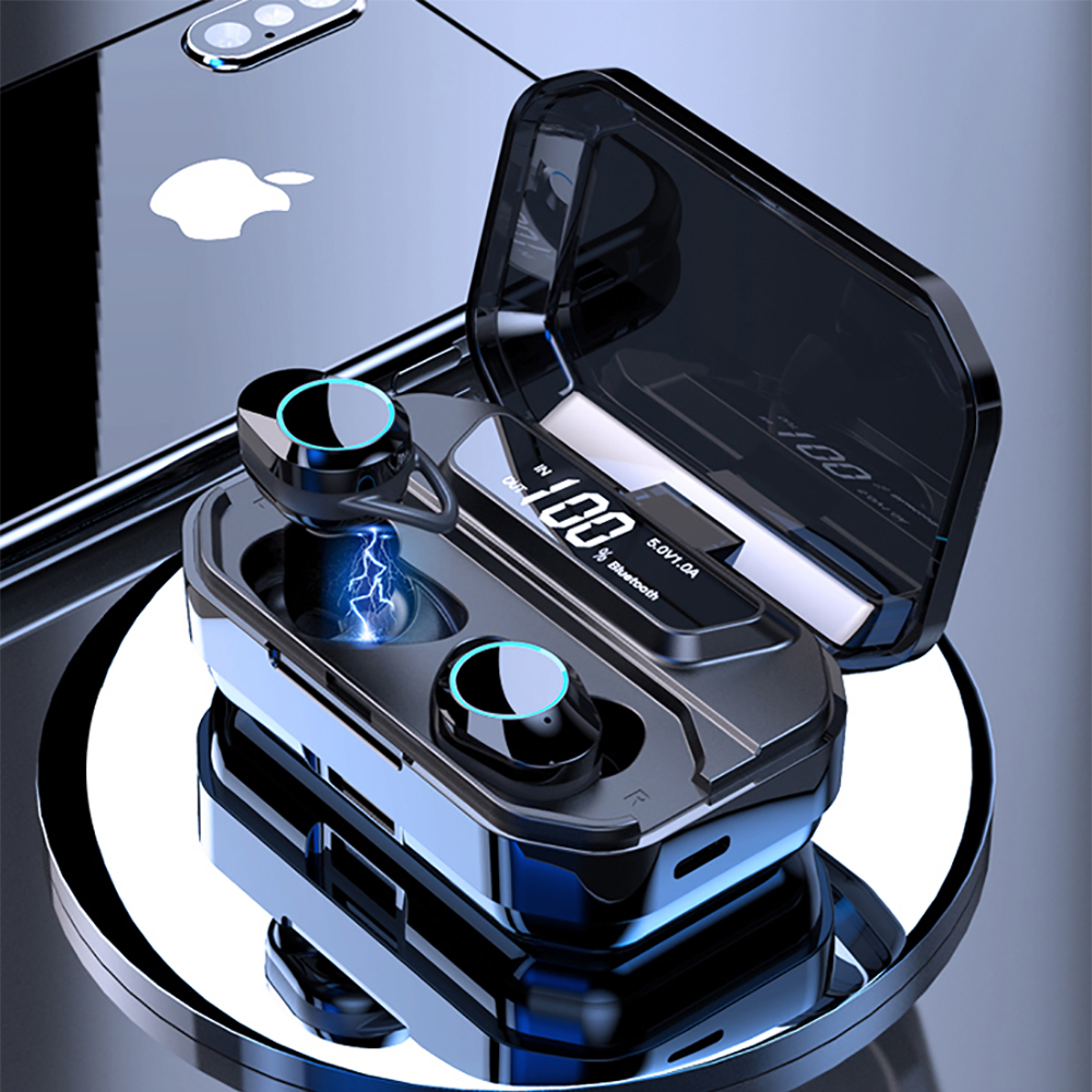 TWS Bluetooth Earphone 5.0 Waterproof 6D stereo Wireless Headset With digital display 3300mAh Charge Box for galaxy buds phoneTWS Bluetooth Earphone 5.0 Waterproof 6D stereo Wireless Headset With digital display 3300mAh Charge Box for galaxy buds phone