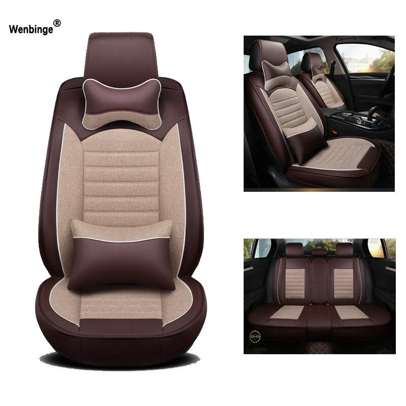 Couro Universal tampa de assento do carro Para lada priora largus granta kalina vesta 2017 acessórios do carro protetor de assento de carro-styling