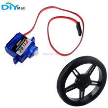 10pcs/lot Feetech FS90R 360 Degree Continuous Rotation Servo Wheel for RC Drone Arduino Smart Car Robot