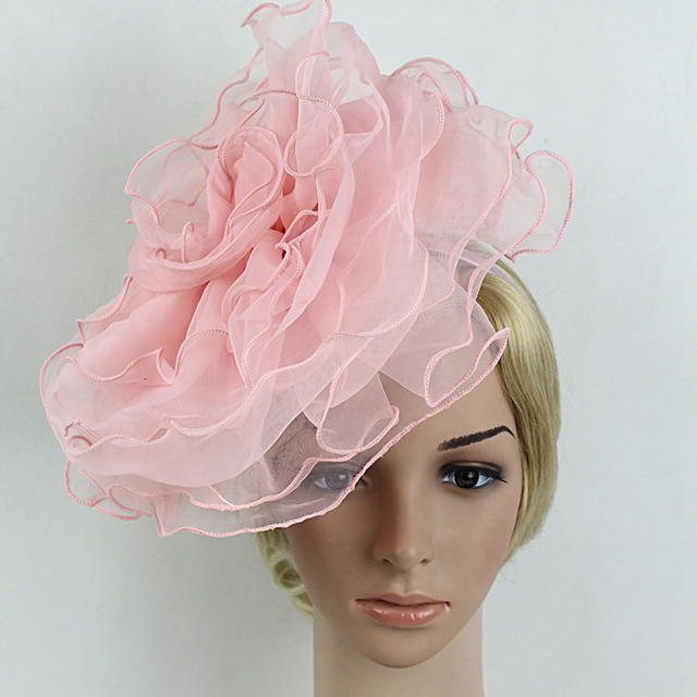 Women Flower Mutli-layer Mesh Fascinator Bride Wedding Hats Black Pink  White Elegant Hair Band Fascinator Headband Girl Headwear c4e21354626