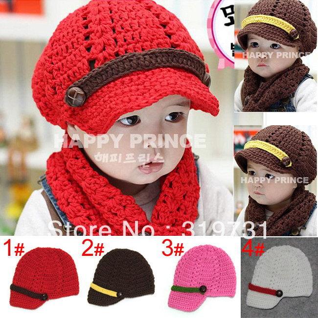 905d34ead89 2014 New Baby Girl handmade knitted brim hat