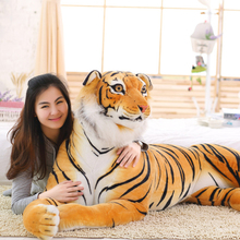 90 cm Lifelike Tiger Plush Toys Soft Stuffed Animals Simulation White Tiger Doll Sleeping Pillow Children Kids Birthday Gifts