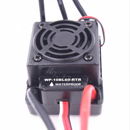 60A Waterproof Brushless ESC Speed Controller 2 3S Lipo NiMH 6V 3A Fits 3650 3660 Motor