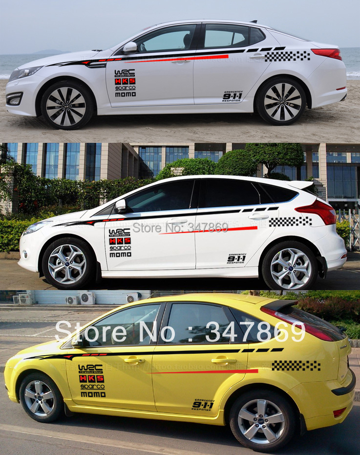 Car Sticker WRC FIA World Rally Racing Competition Body Door - Bmw car decals stickers