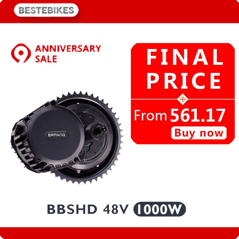 Bafang BBSHD 48 в 1000 Вт двигатель bbs03 электровелосипед Электрический велосипед velo electrique электрический велосипед комплект США Россия CA AUS NZ нет нало...