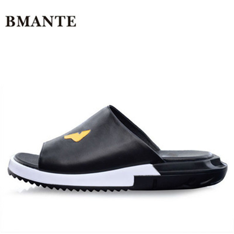 Luxury Slippers Summer Men Shoes Print Rome Fashion Flat Men Slippers Sandals Spring New Men Appliques Beach Casual Sandal