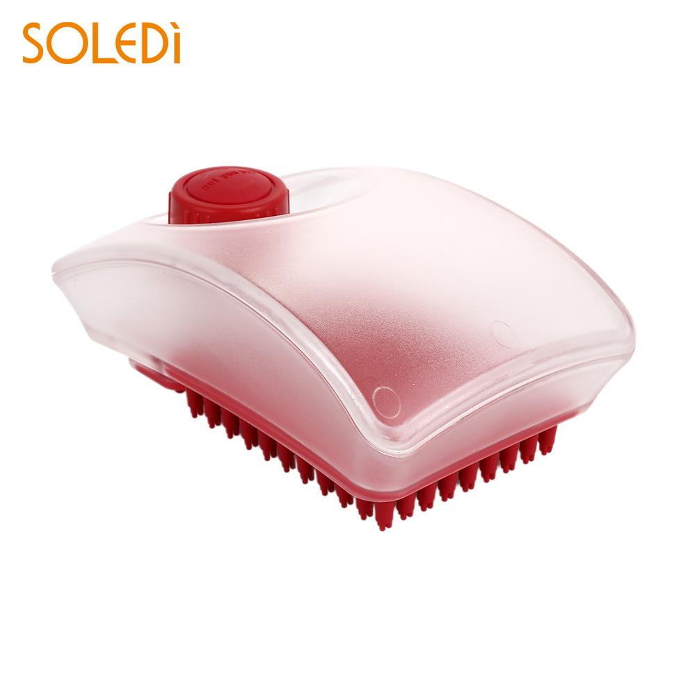 Novelty Shampoo Cleaning Brush Pet Washing Brush Comb Shampoo Pet Red 2 in 1 Bubble Pet Supplies Carding Fur Large Dog