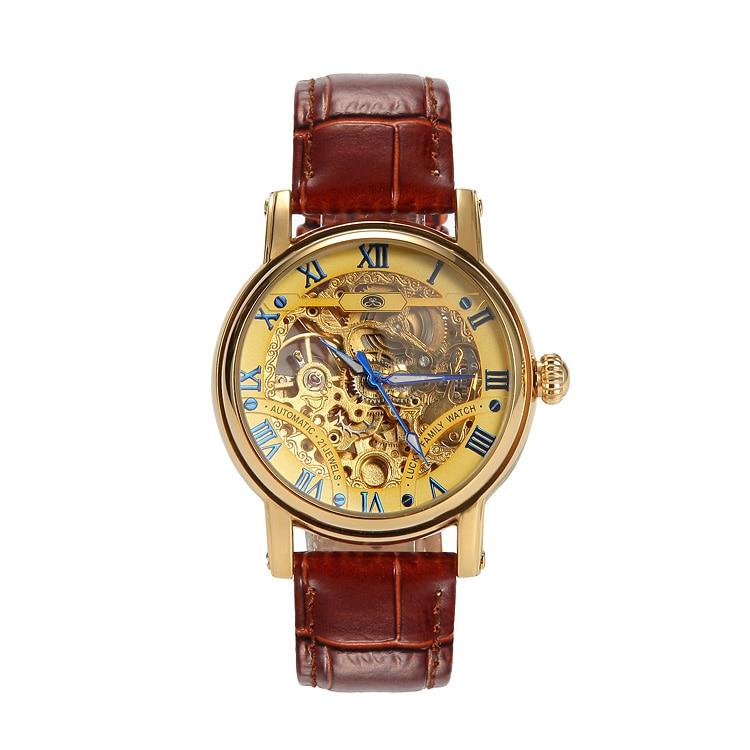 2016 Vintage Blacksteel Strap Men Wristwatch Skeleton Clock Male Antique font b Steampunk b font Casual