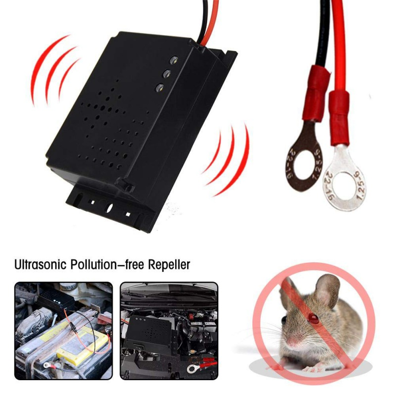 Mouse Ultrasonic Rat Repellent Ultrasonic Mice Repellent For Car Hood Non-Toxic Low Power Repeller Home Garden Pest Control