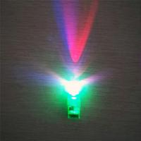 High Quality 100 PCS Green LED Light Up Flashing Finger Rings Glow Party Favors Kids Children