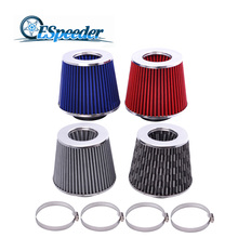 ESPEEDER Universal Car Air Filter 3inch Cold Air Intake Supercharger for 76mm Oil Hose Kit universal 76mm and 240mm height cold air filter red work 76mm air intake ep af002g
