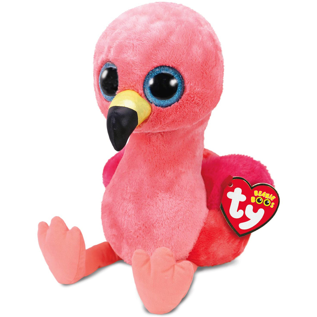 11205c8be12 Ty Beanie Boos 6 quot  15cm Gilda Pink Flamingo Plush Regular Soft Stuffed  Animal Collectible Bird