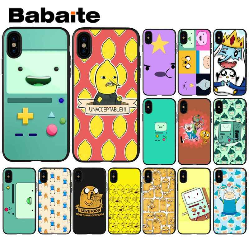 Babaite ผจญภัย Beemo BMO Jake Finn Luxury High - end Protector สำหรับ iPhone 6 S 6 plus 7 7 plus 8 8 Plus X Xs MAX 5 5 S XR